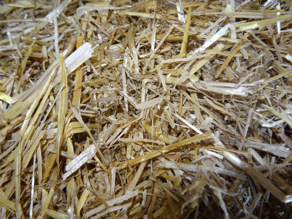 Spaans gehakseld tarwe stro